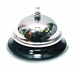 The Classics All-Metal Call Bell, Chrome Finish, No-Slip Base (TPG-343)
