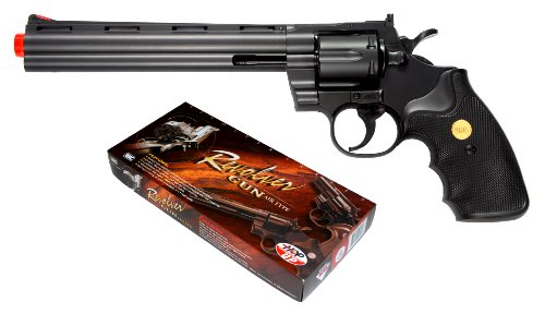 TSD Sports 8-Inch Barrel Spring Powered Airsoft Revolver