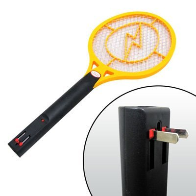 Rechargeable Electric Fly Swatter Electric Mosquito Trap Bug Zapper (Yellow)