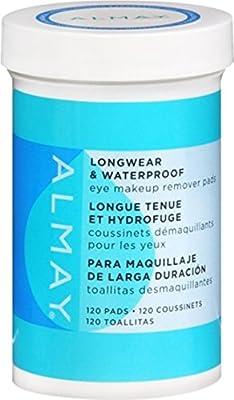 Almay Longwear & Waterproof Eye Makeup Remover Pads 120 ea