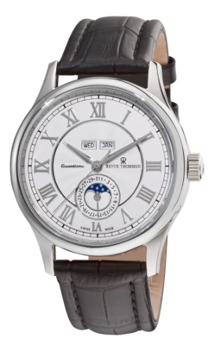 Revue Thommen 16066.2532 42mm Automatic Stainless Steel Case Black Leather Anti-Reflective Sapphire Men's Watch