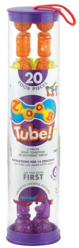 ZOOB Tube 20-Piece Modeling System in Sparkle Translucent Colors