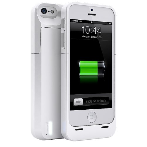 Special Sale uNu Power DX External Protective Battery Case for iPhone 5s / iPhone 5 - MFI Apple Certified (Glossy White, Fits All Models iPhone 5S & iPhone 5)