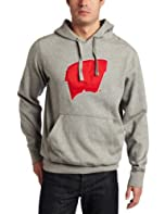 NCAA Wisconsin Badgers Applique Signature Hoodie Mens by Antigua