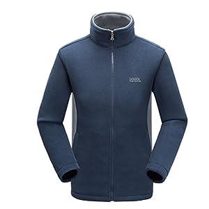 Modern Fantasy Mens Pure Colour Fleece Warm Coat Liner Jacket Size US Dark Blue L