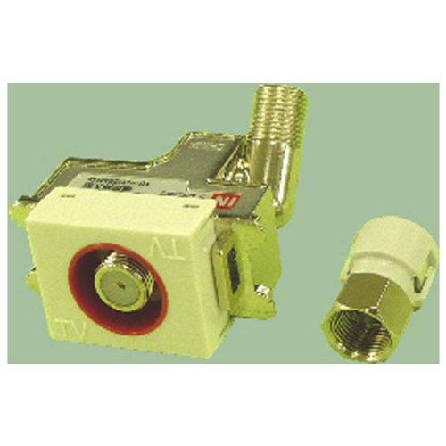 マスプロ電工 壁面埋込型直列ユニット IN・OUT端子可動型(シールド型) 電源挿入型テレビ端子 TV-IN電流通過型 DSKTD-FP