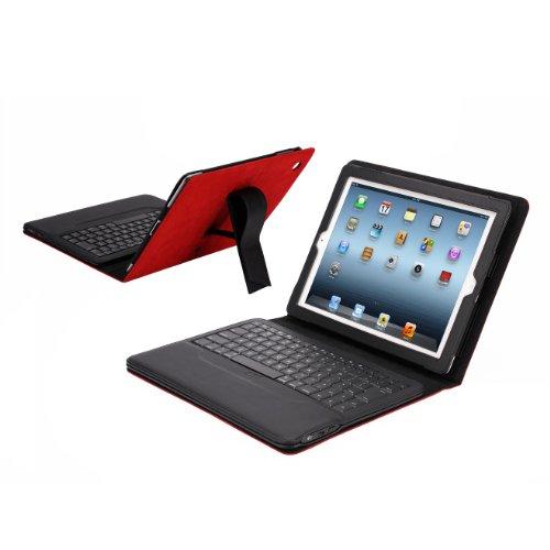 IPEVO ダイレクトIPEVO Typi iPad(第2世代、第3世代、第4世代対応) スタンド機能付カバーBluetoothキーボード レッド Folio case + wireless keyboard for iPad 2 and iPad 3 and iPad 4 - Red