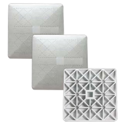 Schutt Impact Throw Down Bases (White, 15-Inch x 15-Inch x 2 1/2-Inch)