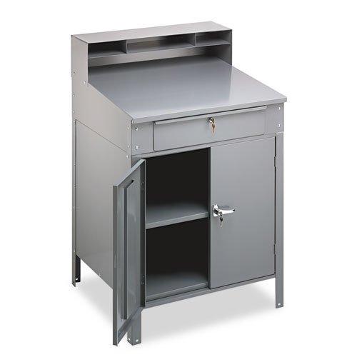Tennsco SR-58MG SR58MG Steel Cabinet Shop Desk 36w x 30d x 53-3/4h Medium Gray