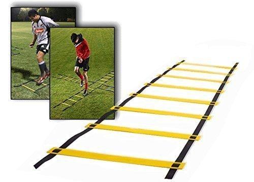 Ohuhu® Agility Leiter Trainingsleiter Fußball Koordinationsleiter Übungen Koordinationstraining Leiter(8- Rung/ 12- Rung)