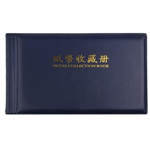 album-de-billets-de-banque-collection-de-billets-30-pages-album-de-poche-bleu-royal