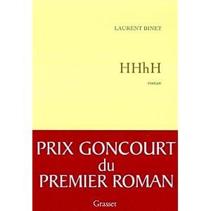 HHhH - Prix Goncourt 1er roman 2010