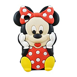 S9D 3D Mickey Minnie Silicone Back Cover Case for Apple iPod Touch 4G 4 4th Gen TC03