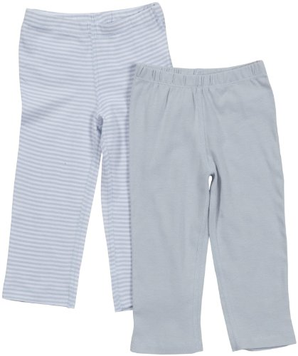 Burt's Bees Baby Baby Boys' 2 Pack Essentials Pants (Baby)-Sky - Blue - 6-9 Months
