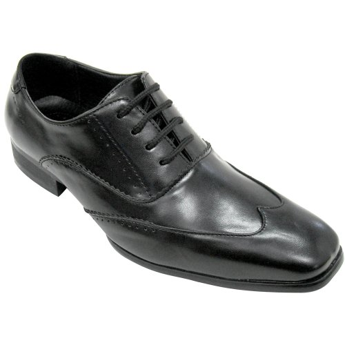 Ben Black Men's Wingtip Vegan Dress Shoe