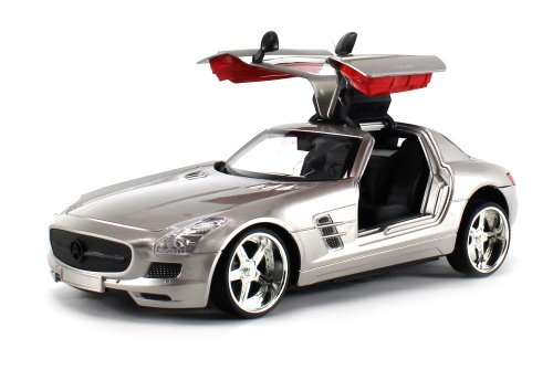 Ts-R Mercedes-Benz Sls Amg Electric Rc Car 1:18 Scale Rtr W/ Led Headlights, Opening Gull Wing Doors (Colors May Vary)