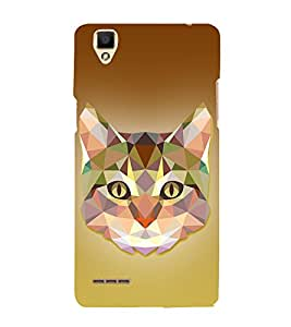 Meow Cat 3D Graphics 3D Hard Polycarbonate Designer Back Case Cover for Oppo F1