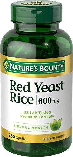 Nature's Bounty Red Yeast Rice 600 mg, 250 Capsules
