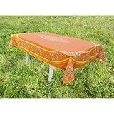 jojo la cigale - Tablecloth LE CLOS DES OLIVIERS Rectangle Spill-Proof Cotton Print 160x250cm Terracotta