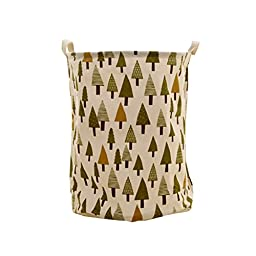Pine Tree Foldable Laundry Basket Storage Bag Practical Hamper Bag
