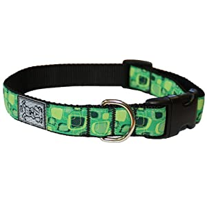 RC Pet Products 3/4-Inch Adjustable Dog Clip Collar, Small, Green Giant