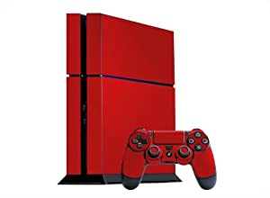PlayStation 4 Skin (PS4) - - ROCKIN RED system skins faceplate decal mod