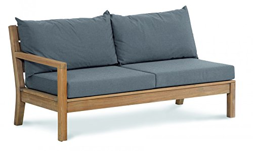 BEST Lounge Seitenteil links zu Teak Moretti, grau