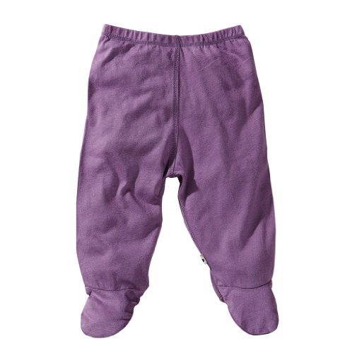 Babysoy Baby Girls' Footie Pants - Eggplant - 3-6 Months back-1012371