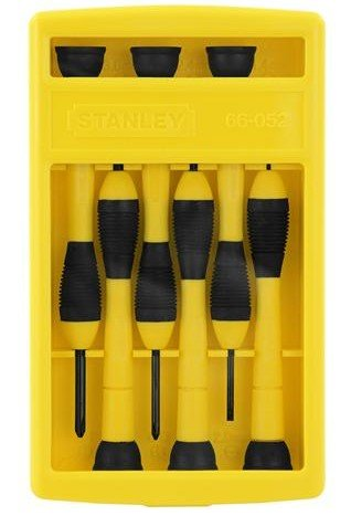Stanley 66052 6 Pc Bi Material Handle Precision Screwdriver Set