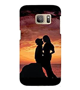 Love Pair 3D Hard Polycarbonate Designer Back Case Cover for Samsung Galaxy S7 Edge :: Samsung Galaxy S7 Edge Duos G935F