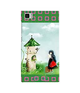Fuson 3D Printed Girly Designer back case cover for Xiaomi Mi 3 - D4145