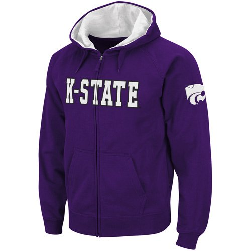 Kansas State Wildcats Purple Classic Twill II Full Zip Hoodie Sweatshirt (Large) Amazon.com