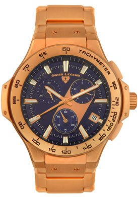 Swiss Legend Men's 40050-RG-33 Maverick Chronograph Rose Gold-Tone Watch