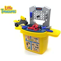 Little Treasures Toolbox 27pcs Pretend Play Tools Play Set With A Combination Of Real Working Hand Tools And A...