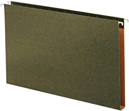 Globe-Weis Box Bottom Hanging Folders, 1-Inch Expansion, Legal Size, Green, 25 Folders Per Box (65339)