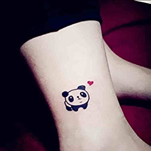 Bhakta temporary tattoos stickers panda for Fake tattoos amazon