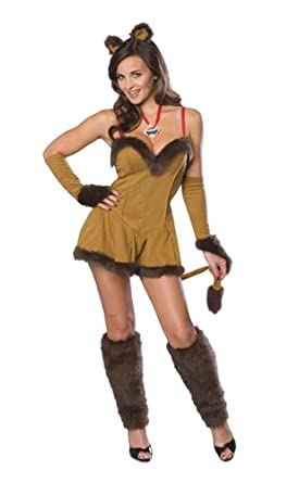 Secret Wishes  Women's Wizard of Oz Cowardly Lioness Costume, Tan/Brown, Small