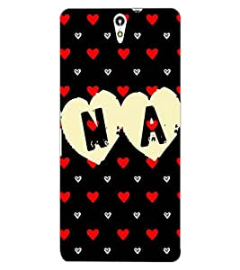 ColourCraft Love Design Back Case Cover for SONY XPERIA C5 ULTRA DUAL