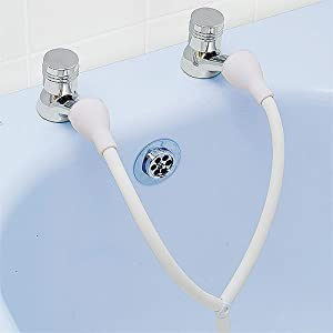 double tap shower attachment amazon co uk kitchen amp home crosswater totti bath tap and shower attachment