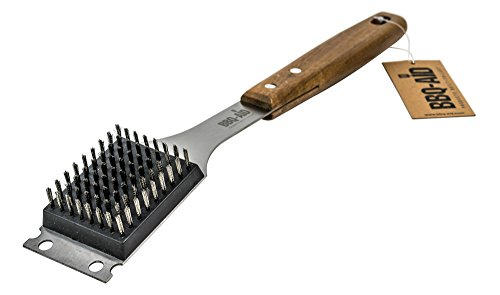 Barbecue Grill Brush and Scraper - Extended, Large Wooden Handle and Stainless Steel Bristles - No Scratch Cleaning for Any Grill: Char Broil & Ceramic - BBQ-Aid (Handy Type Pressure Cooker compare prices)