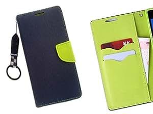 Majesty Wallet Case Flip Cover for Xiaomi Mi 4i - Blue