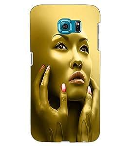 ColourCraft Face Design Back Case Cover for SAMSUNG GALAXY S6 EDGE G925