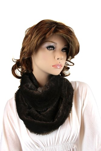 Fashion Dimensions Cruella Infinity Neck Scarf In Dark Brown