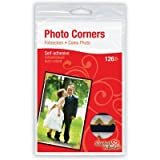 Scrapbook Adhesives by 3L Self-adhesive Paper Photo Corners, Gold, 108-Pack