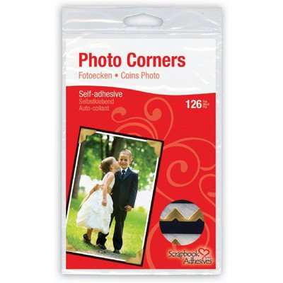 "3L - Classic Paper Self-Adhesive Photo Corners .5"" 108/Pkg"
