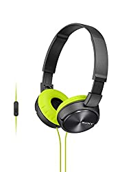 Sony MDRZX310AP Over-Head Headphones with Mic (Green)