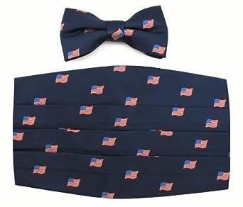 American Flag Mens Cummerbund — Tuxedo Park