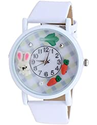 Super Drool White 3D Fun Dial Wrist Watch - B01HXOA30W