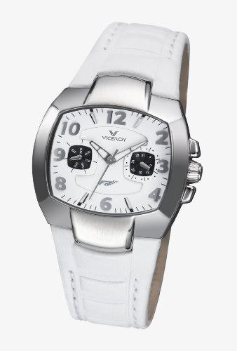 Viceroy - 432024-05 - Montre Femme - Quartz - Analogique - Bracelet Cuir Blanc