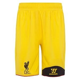 Warrior Kids Liverpool Football Club Away GK Short - Vibrant Yellow, Large